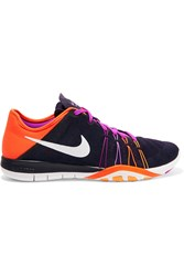 Nike Free Tr 6 Mesh And Neoprene Sneakers Dark Purple