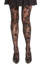 Chelsea 28 Floral Net Tights Black