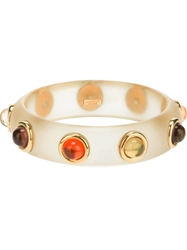 Lanvin Vintage Cabochon Bangle Nude And Neutrals