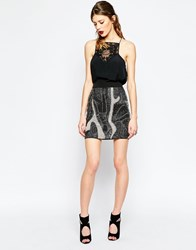 Religion Dissolve Skirt With Beading Black