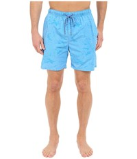 Tommy Bahama Naples Captain Jacquard 6 Inch Swim Trunks Lol Blue Men's Swimwear