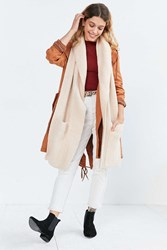 Urban Outfitters Shawl Collar Scarf Pink