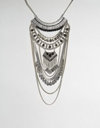 Aldo Galeladia Statement Necklace Silver