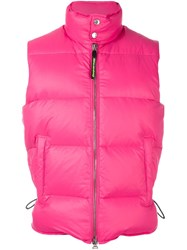 Dsquared2 Classic Padded Gilet Pink And Purple