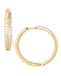 38Mm Yellow Gold Diamond Hoop Earrings 2.46Ct Roberto Coin Red