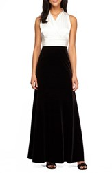 Alex Evenings Women's Stretch Fit And Flare Gown