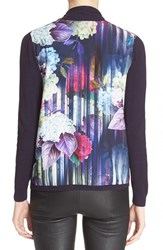Women's Ted Baker London 'Hydrangea Haze' Mixed Media Blazer