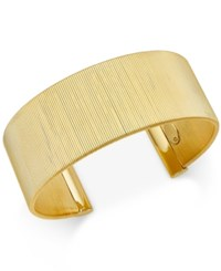 Macy's Wire Wrapped Open Cuff Bracelet In 14K Gold Plated Sterling Silver Yellow Gold