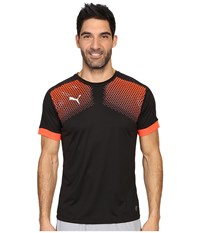 Puma It Evotrg Graphic Tee Touch Black Red Blast Men's T Shirt Gray
