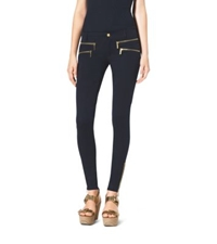 Michael Kors Zip Pocket Stretch Twill Skinny Jeans Navy