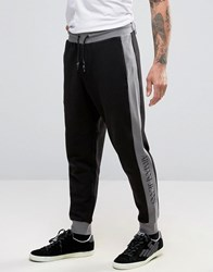 Armani Jeans Sweatpants With Contrast Panel Black With Grey