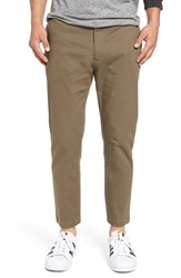 Rvca Men's 'Hitcher' Tapered Fit Cropped Pants Leaf