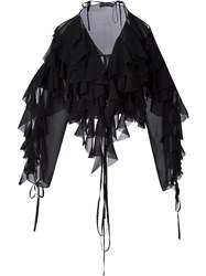 Y Project Ruffle Top Black