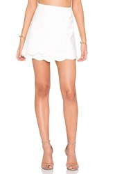 1. State Scalloped Edge Skirt White