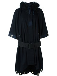Sacai Belted Cape Blue