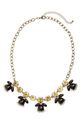Women's Bp. Teardrop Stone Necklace Black Gold