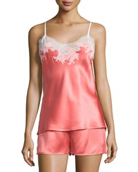 Natori Jasmine Lace Trimmed Two Piece Nightie Set Women's