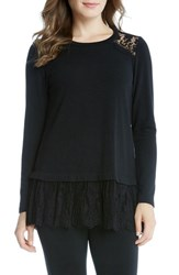 Karen Kane Women's Lace Inset Sweater