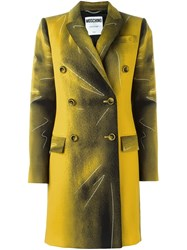 Moschino Trompe L'ail Classic Coat Yellow And Orange
