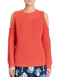 Sachin Babi Cain Cold Shoulder Sweater Coral