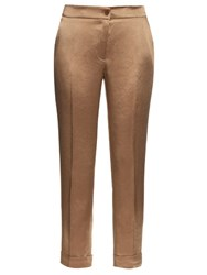 Etro Cigarette Cropped Trousers Beige