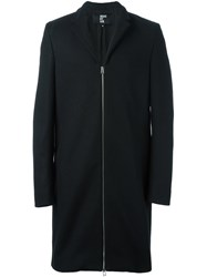 Hood By Air Zipped Single Breasted Coat Black
