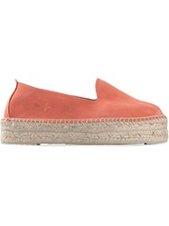 Manebi Suede Platform Espadrilles Yellow And Orange