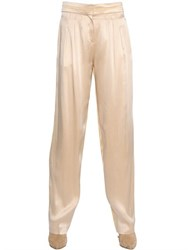 Nina Ricci Double Face Viscose Satin Pants
