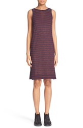 Women's T By Alexander Wang Striped Rayon And Linen Tank Dress