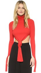 Jacquemus Knot Sweater Red
