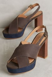 Anthropologie Una Platform Heels Grey
