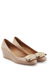 Salvatore Ferragamo Leather Wedges Rose