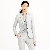 J.Crew Tall 1035 Single Button Jacket In Super 120S Wool
