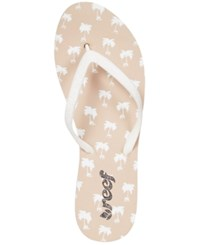 Reef Stargazer Glitter Thong Flip Flop Sandals Women's Shoes Taupe Palms
