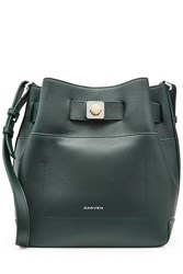 Carven Leather Shoulder Bag Green