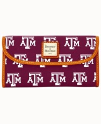 Dooney And Bourke Texas A M Aggies Large Continental Clutch Maroon