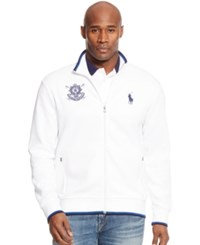 Polo Ralph Lauren Big And Tall Black Watch Double Knit Tech Jacket White