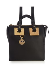Sophie Hulme Holmes Small Leather Backpack Black