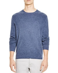 The Men's Store At Bloomingdale's Mini Jacquard Cashmere Sweater Dusty Light Blue