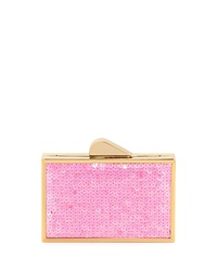 Franchi Odette Sequined Evening Clutch Bag Pink
