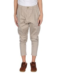 Minimal Trousers Casual Trousers Men Beige