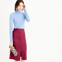 J.Crew Petite A Line Midi Skirt In Double Serge Wool