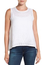 Tommy Bahama Women's 'Peaceful Leaves' Tank White