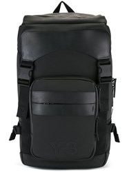 Y 3 Buckle Detail Backpack Black
