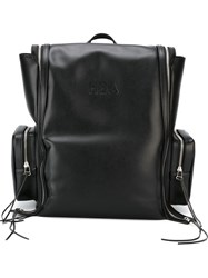 Hood By Air Zip Detail Backpack Black