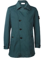 Stone Island Short Buttoned Up Coat Green