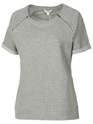 Fat Face Witney Crew Neck Top Grey Marl