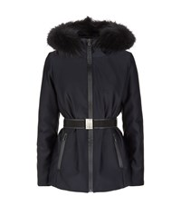 Max Mara Maxmara Weekend Technical Fur Trim Jacket Female