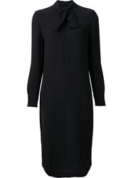 Ralph Lauren 'Sheryl' Heavy Shirt Dress Black
