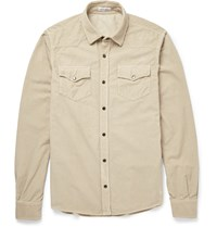 Tomas Maier Slim Fit Cotton Corduroy Shirt Neutrals
